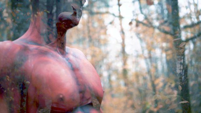 adolescente adivino en el bosque se convierte en una córnea súcubo de esperma diablo