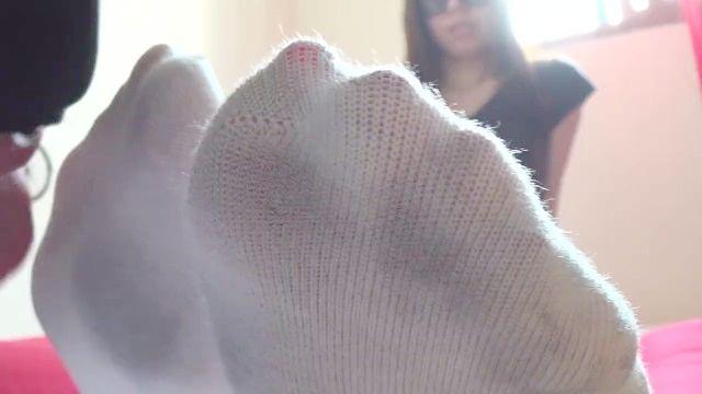 Korea Fuß Göttin verschwitzten Socken