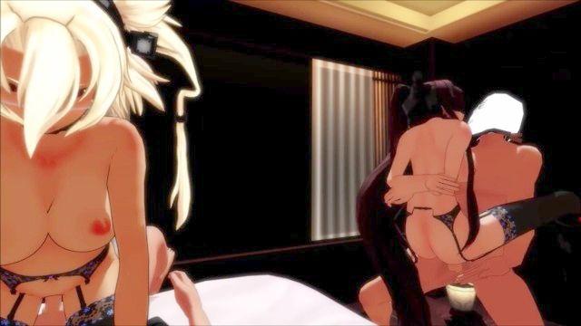 大和武藏在酒店kancolle MMD大和武蔵とホテルセックス性爱
