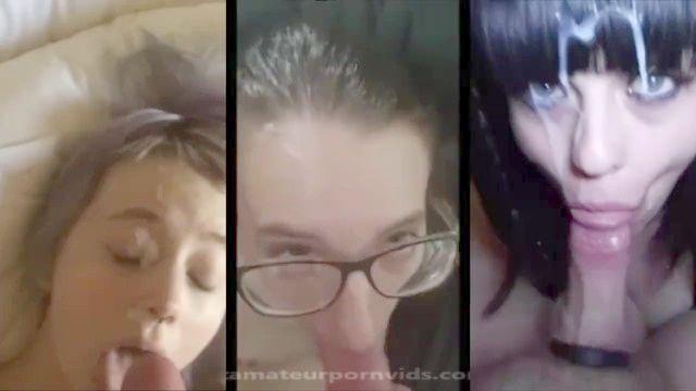 sehr selten Amateur Facials in mega Split-Screen-Compilation