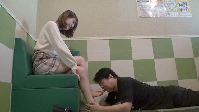 Asiatisch Selbst Fuß Anbetung