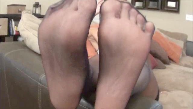 Asiatisch Nylon Fuß Anbetung