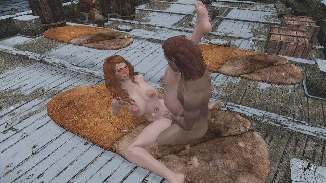 sexy Skyrim convence dovakhin marineros a confiar en su capitán