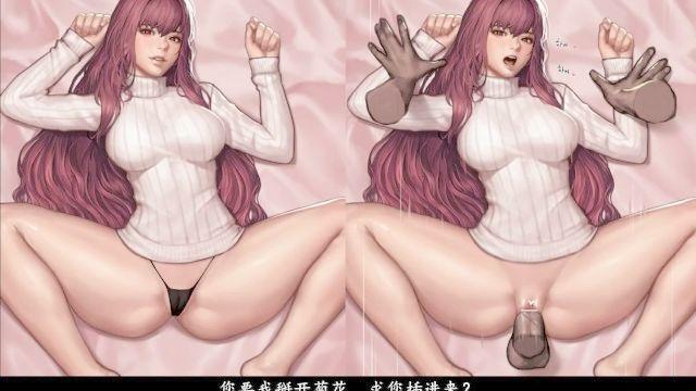 Hentai ASMR Katze Mädchen tiefer Oralsex anal