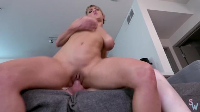 Redhead Ts Fucks Hot Blonde Milf