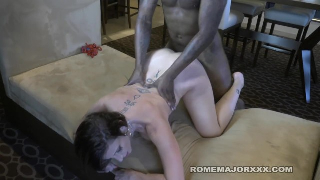 Rome Sara Jay Bounces Her Phat Ass On Black Cock