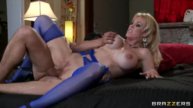 Horny Big-tit Blonde Milf Slut Fucks Her Daughter