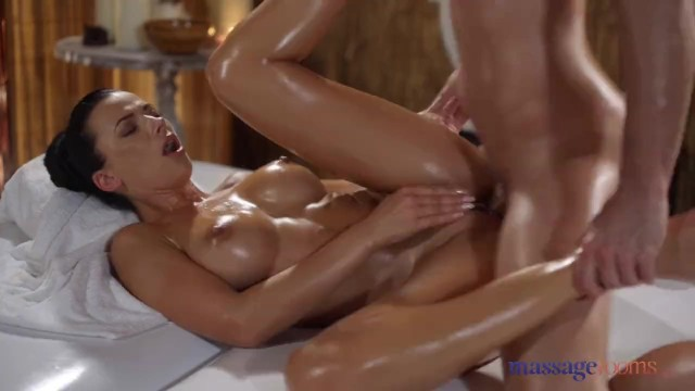 Massage Rooms Oily Cock Massage With Hot Romanian Shalina Devine