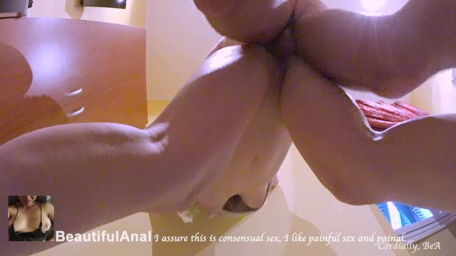 No Mercy! Extremely Painful Anal Creampie - Roughest Sex Ever At 3.40