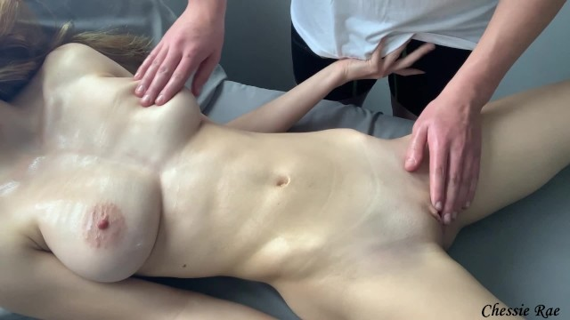 Oiled Massage Leads To Multiple Orgasms (creampie) - Chessie Rae