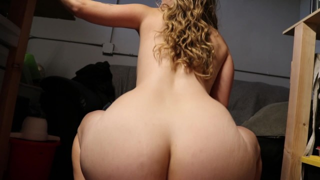 Horny Babe Office Fuck! Bouncing Boobs Cowgirl, Reverse, Begs Creampie