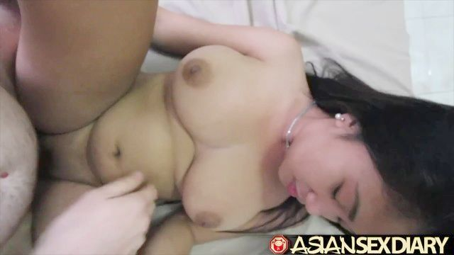 Asian Fuck Diary - Asian Great Hooters Whores Gets White Organ