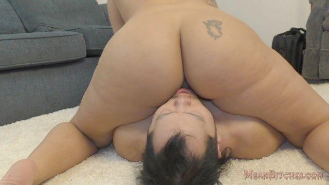 Joyful B Sits On Her Slave