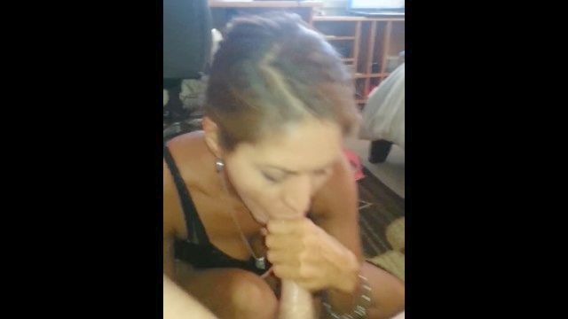 Middle - Aged Other Half & Cuck - Cuck Banging His Other Half From Behind Until Cum In Her Mouth