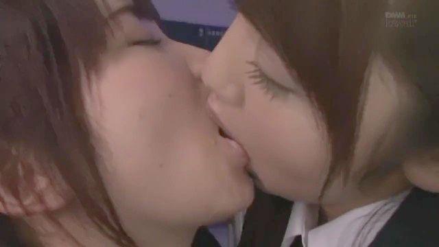 Exceptionally Sweet Schoolgirls Deep Kissing