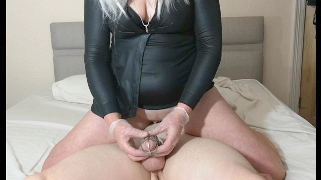 Spiked Chastity Cage Femdom