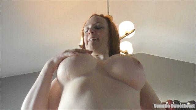 Pretty Great Boobs Mom Enjoys Riding Strong Dick - Cowgirl Internal Cumshot & Cum Play