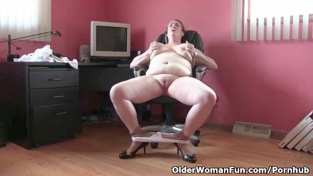 Office Grannies In Nylon Tights Need To Get Off