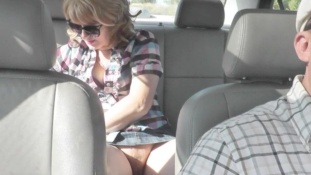 Taxi Driver Hammered Passenger In Automobile . Without Panties On Street Nude